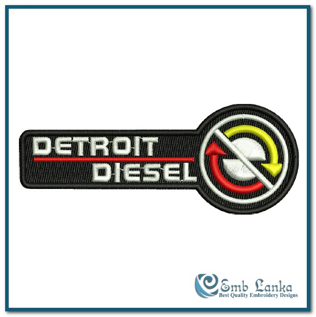 Detroit Diesel Logo 3 Embroidery Design Emblanka