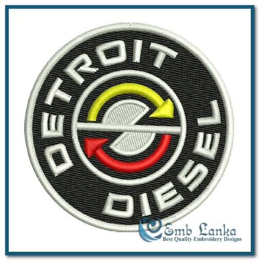 Detroit Diesel Logo 4 Embroidery Design Emblanka