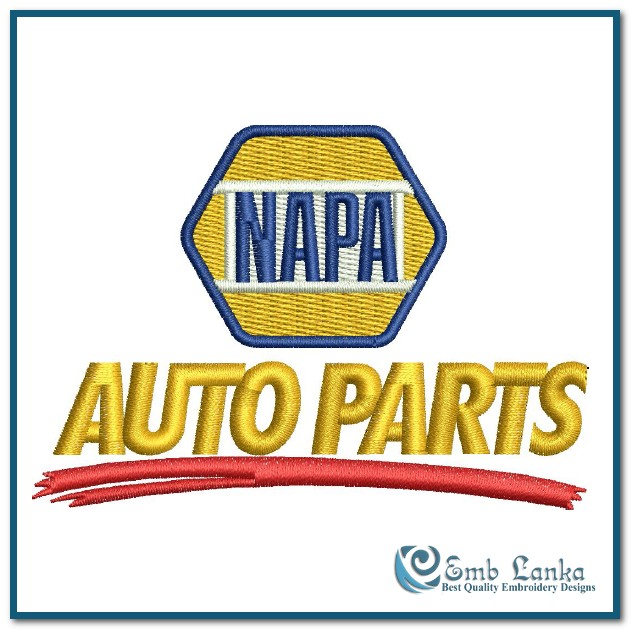 Napa Auto Parts Logo Embroidery Design Emblanka Com