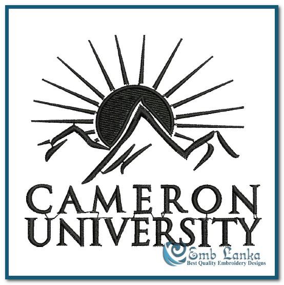 cameron university logo embroidery design emblankacom