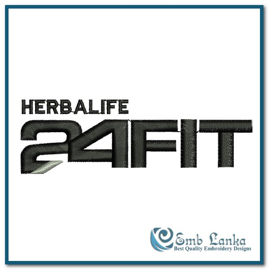 herbalife 24 fit club logo 2 embroidery design emblankacom