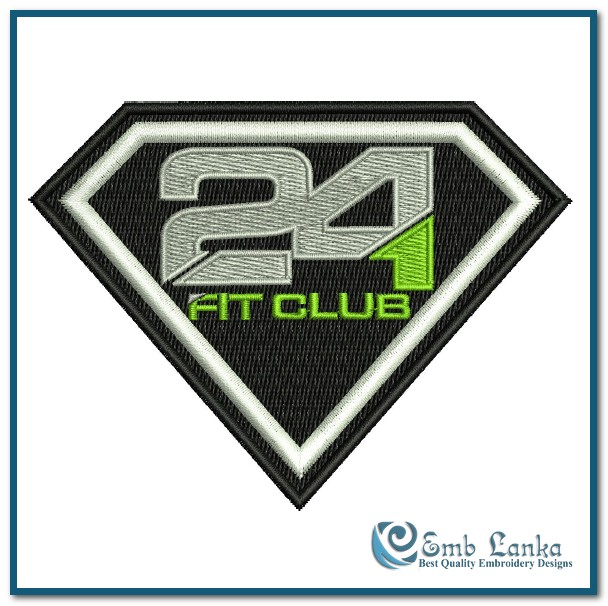 herbalife 24 fit club logo 3 embroidery design emblankacom