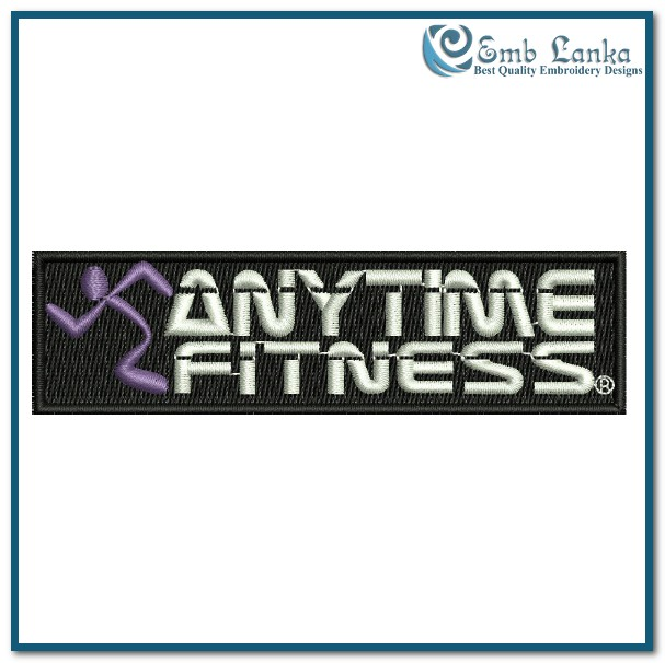 Anytime Fitness Logo 2 Embroidery - 69.1KB