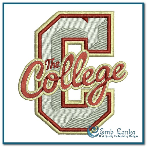 College of charleston cougars logo embroidery design