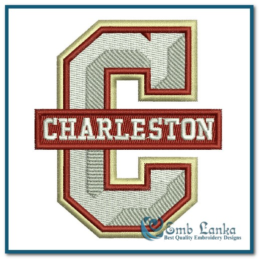 reputable site aa4c4 75fb9 College of Charleston Cougars Logo Embroidery Design ...