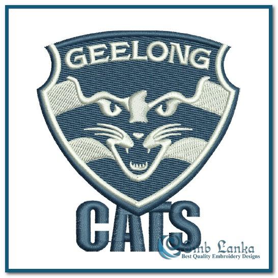 geelong football club logo embroidery design