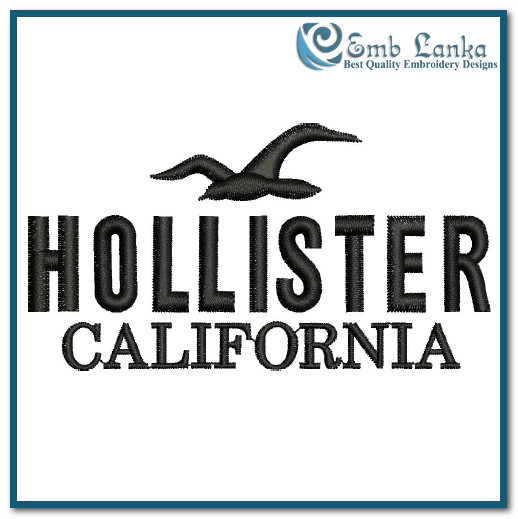 Hollister Co Logo 3 Embroidery Design