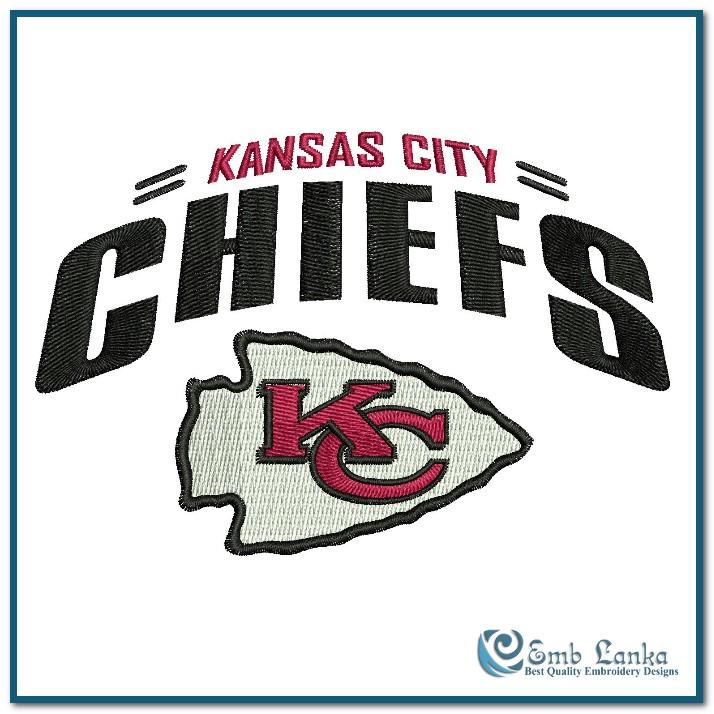 kansas city chiefs logo 2 embroidery design emblankacom