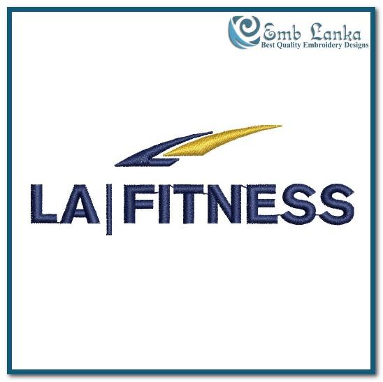 La Fitness Logo Embroidery Design Emblanka