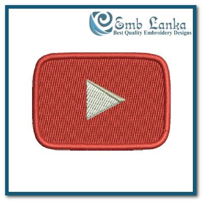 YouTube Logo 2 Embroidery Design | Emblanka.com