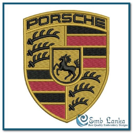 Porsche Car Logo Embroidery Design