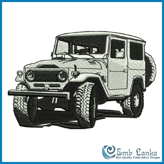 toyota land cruiser jeep embroidery design. Black Bedroom Furniture Sets. Home Design Ideas