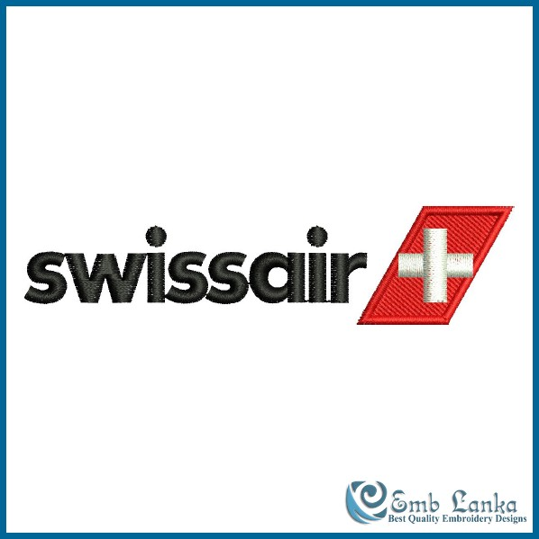 swiss airlines logo 2 embroidery design emblankacom