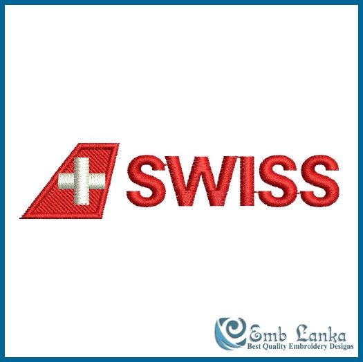 swiss airlines logo embroidery design emblankacom