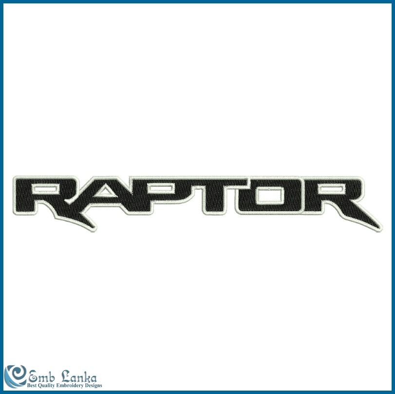 Ford Raptor Logo 2 Embroidery Design | Emblanka.comEmblanka.com