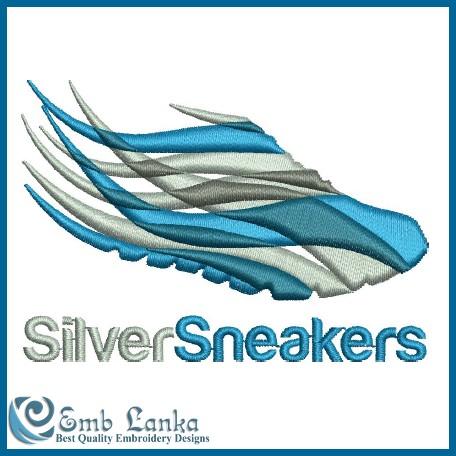 Silver Sneakers Logo Embroidery Design | Emblanka.com