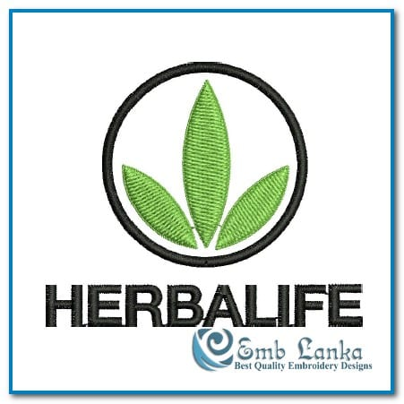 herbalife nutrition logo 3 embroidery design | emblanka