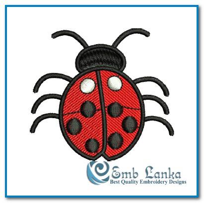 Free Cute Red Ladybug Embroidery Design Emblanka