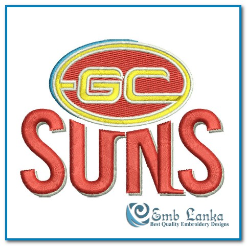 Gold Coast Suns Logo 2 Embroidery Design | Emblanka.com