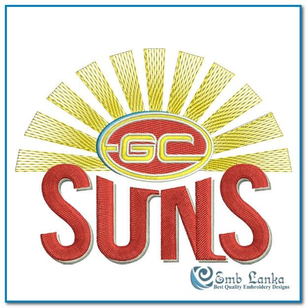 Gold Coast Suns Logo Embroidery Design | Emblanka.com