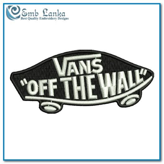 2a43251241d25e Vans Logo Embroidery Design
