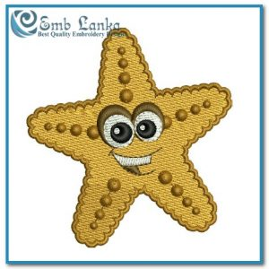 Cartoon Starfish Embroidery Design Angels Starfish