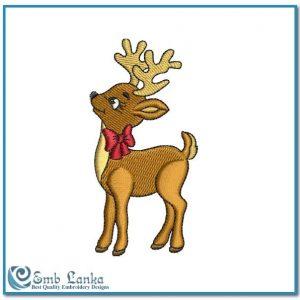Cute Reindeer Embroidery Design Animals