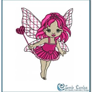 Cute little Love Baby Embroidery Design Angels angel