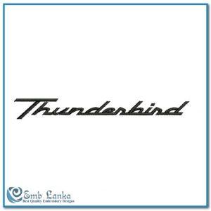 Ford Thunderbird Logo Embroidery Design Logos