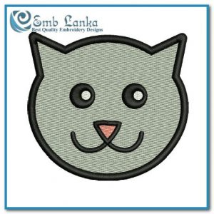 Free Cat Face Cartoon Embroidery Design Animals Cat