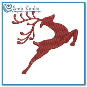 Free Christmas Reindeer Embroidery Design Animals Reindeer