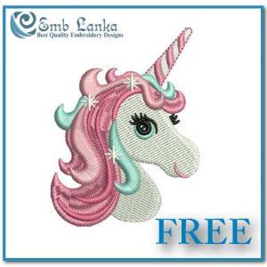 Free Cute Unicorn Head Embroidery Design Animals Horse