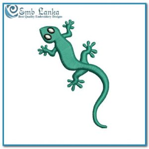 Free Gecko Embroidery Design Animals Animal