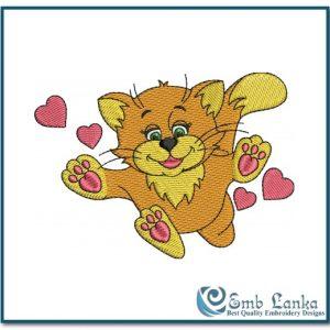 Valentine Cat Embroidery Design Animals Cat