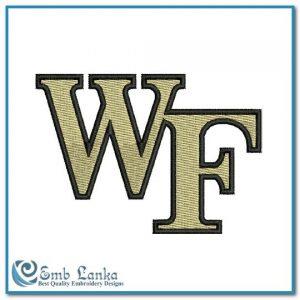 Wake Forest Demon Deacons Logo Embroidery Design Logos University