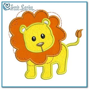 Baby Lion Applique Free Embroidery Design Animals