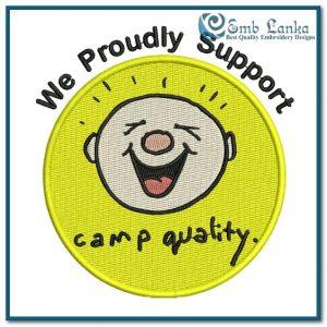 Free Camp Quality Logo 3 Embroidery Design Free designs