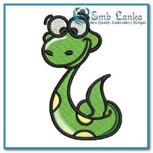 Cartoon Cute Snake Embroidery Design Animals