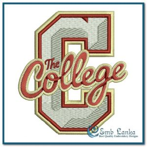 College of Charleston Cougars Logo 2 Embroidery Design Logos