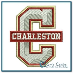 College of Charleston Cougars Logo Embroidery Design Logos