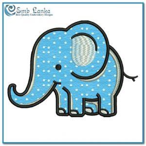 Cute Cartoon Elephant Applique Free Embroidery Design Animals
