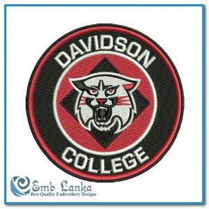 Davidson College Logo Embroidery Design Logos Davidson Wildcats