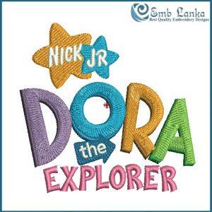Dora the Explorer Logo Embroidery Design Cartoon