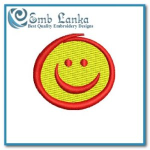 Free Happy Face Embroidery Design Cartoon