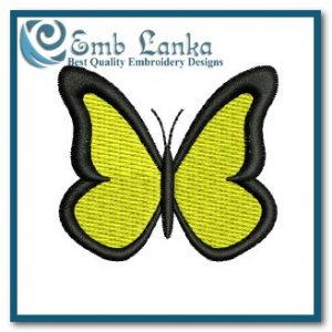 Free Yellow Butterfly 2 Embroidery Design Animals