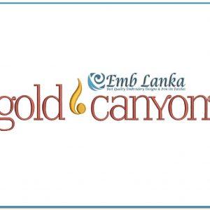 Gold Canyon Candles Logo Embroidery Design Logos