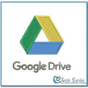 Google Drive Logo Embroidery Design Logos Google