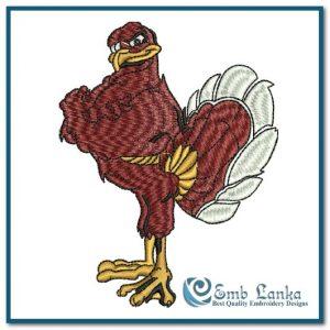 Hokie Bird  Embroidery Design Birds