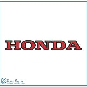 Honda Logo 3 Embroidery Design Logos Honda