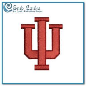 Indiana University Logo Embroidery Design Logos Indiana